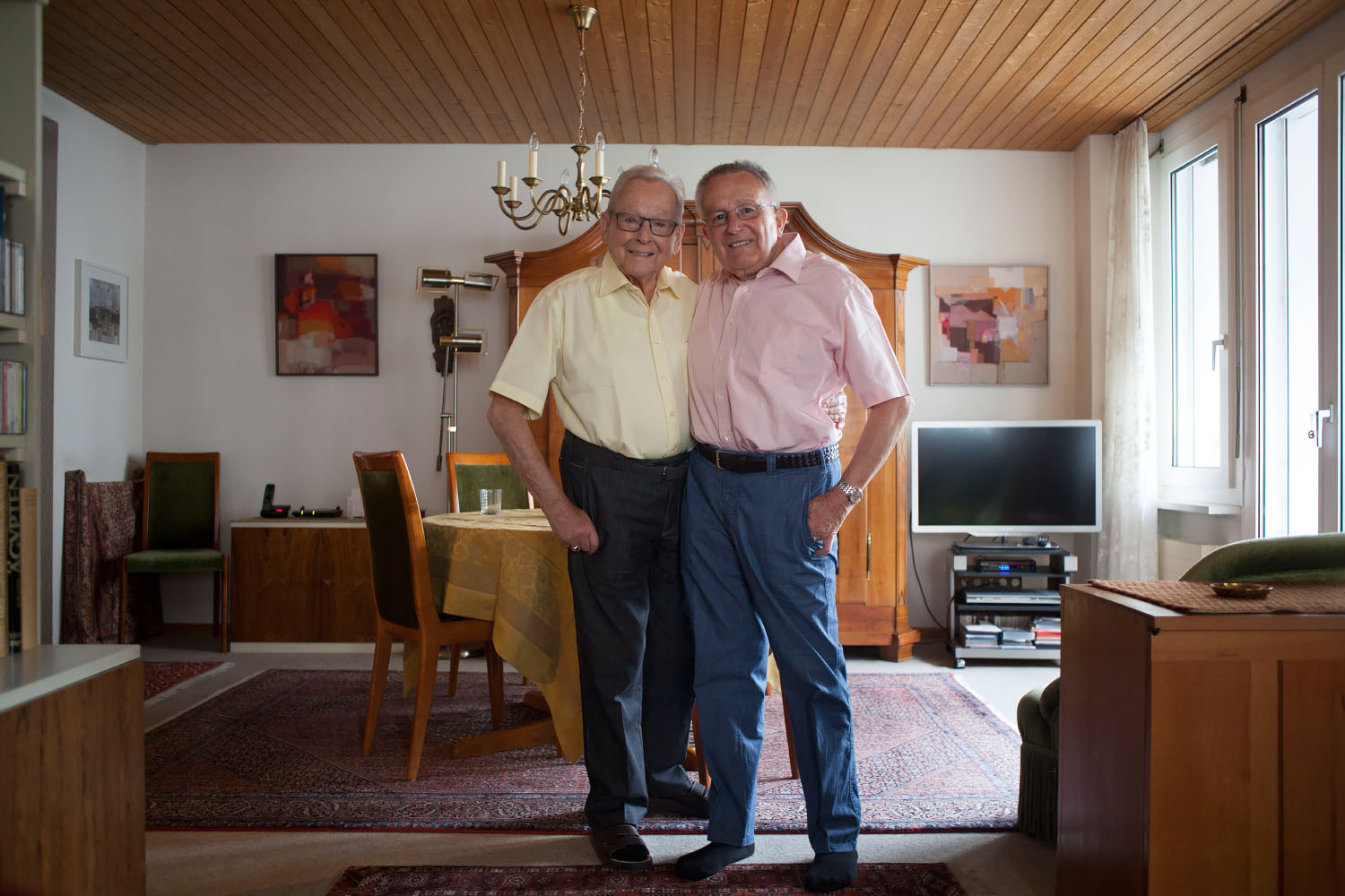 Robi (left) and Ernst (right), photo by Kevin Truong